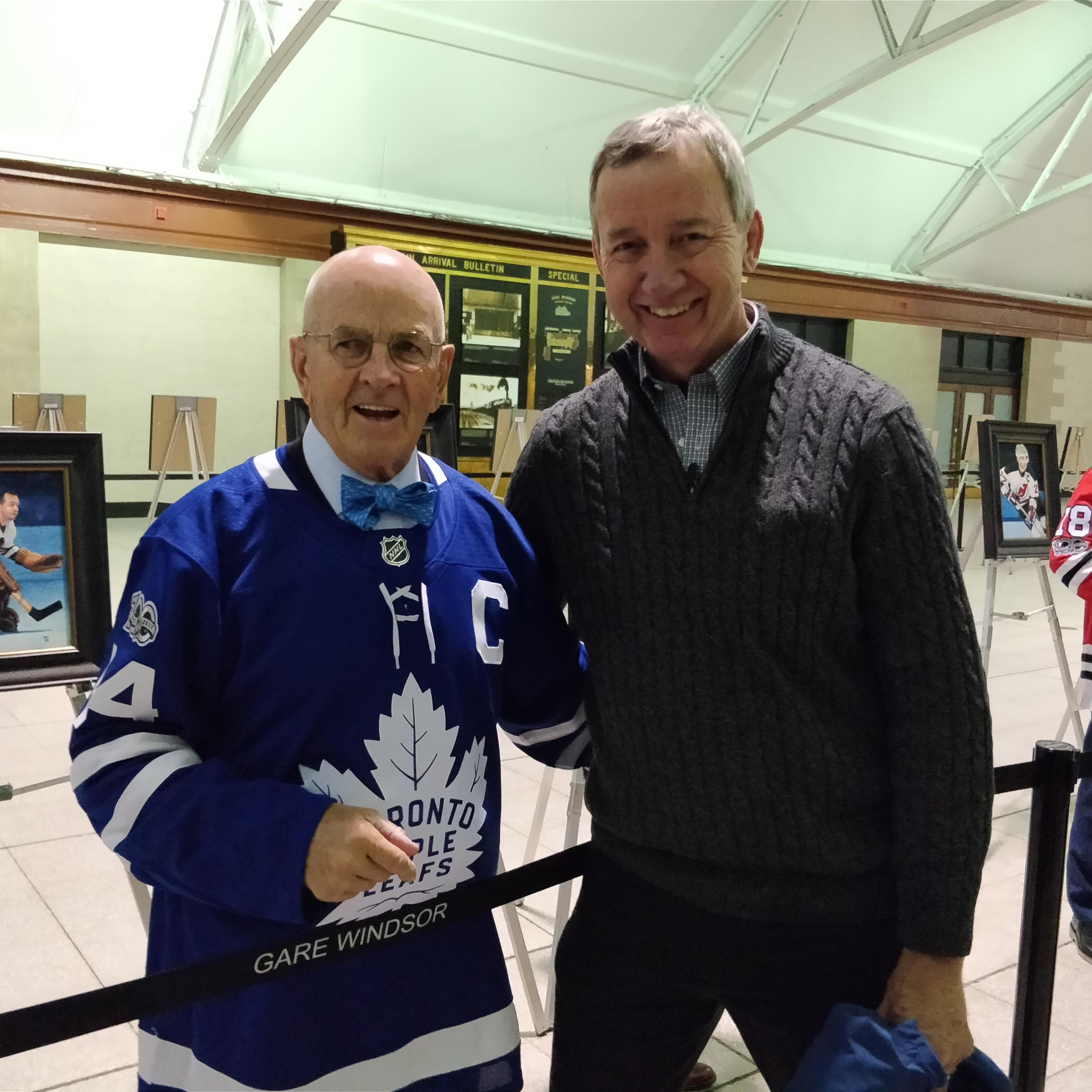 Montreal vs Leafs Nov 18 2017 with Dave Keon
